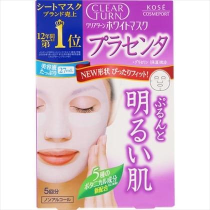 クリアターン ホワイトマスク(プラセンタ) 5回分