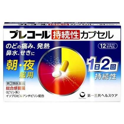 プレコール持続性カプセル 12カプセル[指定第2類医薬品]
