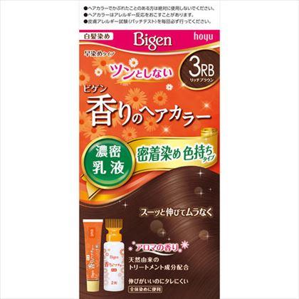 ビゲン 香りのヘアカラー 乳液 3RB リッチブラウン 1個