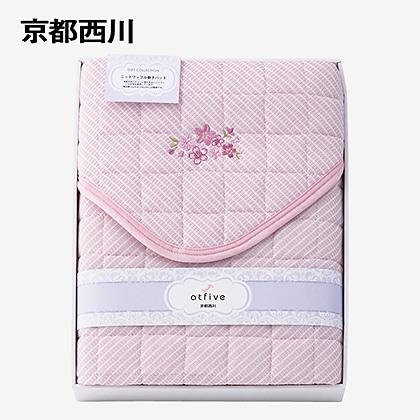 京都西川 敷パット(ニットワッフル生地使用) ピンク