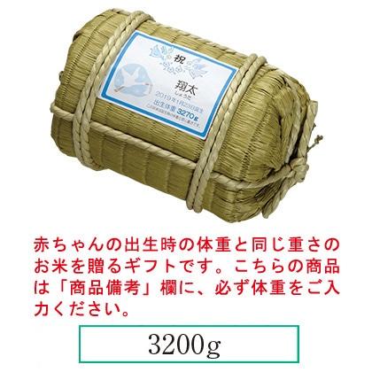 赤ちゃん俵米 天使の抱きごこち(男の子)(お名入れ)
