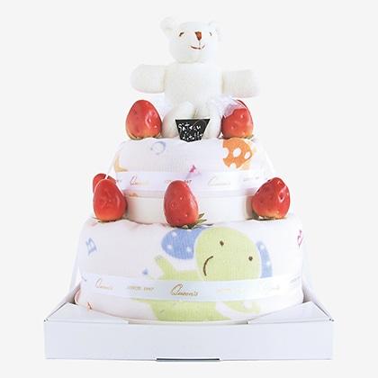 プラットデコレーションケーキ2段
