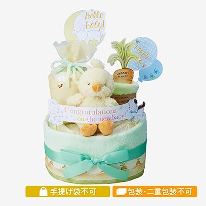 バニーズバイザベイおむつケーキ2段 イエロー