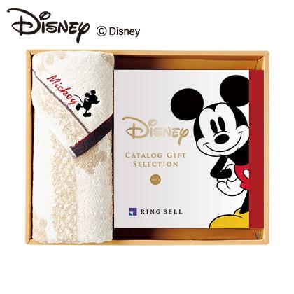 ディズニーカタログギフトセレクション スマイル コース+フェイスタオルセット(アイボリー) 写真入りメッセージカード(有料)込