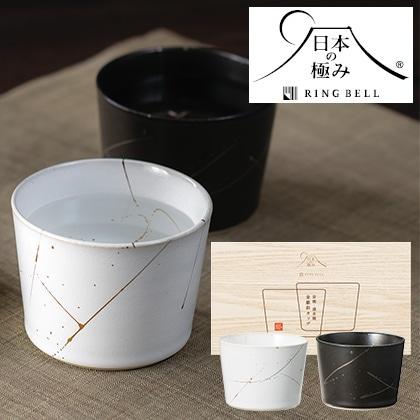 日本の極み ペア金銀彩カップ 写真入りメッセージカード(有料)込