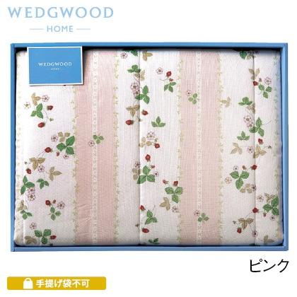 ウェッジウッド 合繊肌掛けふとん ピンク 写真入りメッセージカード(有料)込