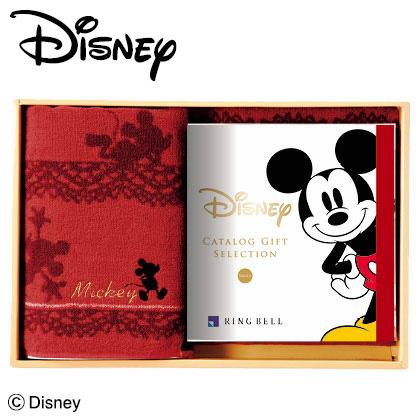 ディズニーカタログギフトセレクション スマイル コース+バスタオルセット(レッド) 写真入りメッセージカード(有料)込