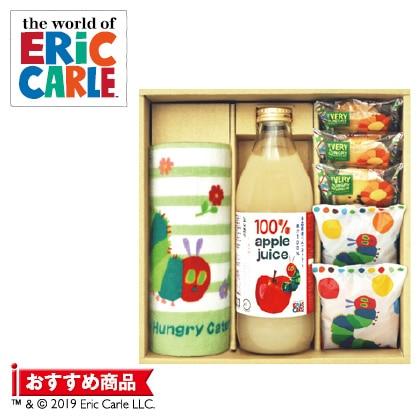 はらぺこあおむしりんごジュース&焼菓子詰合せA  写真入りメッセージカード(有料)込