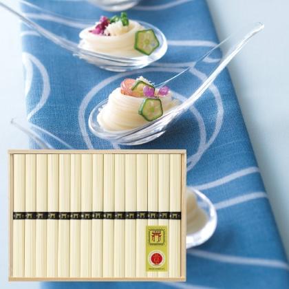 三輪素麺(鳥居帯)A  写真入りメッセージカード(有料)込