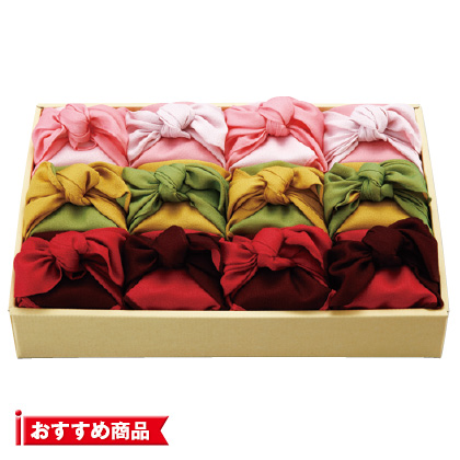 風呂敷包み お米12個詰合せ  写真入りメッセージカード(有料)込