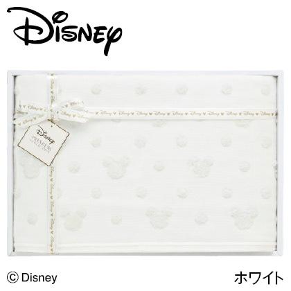 ディズニー ガーゼバスタオル ホワイト  写真入りメッセージカード(有料)込