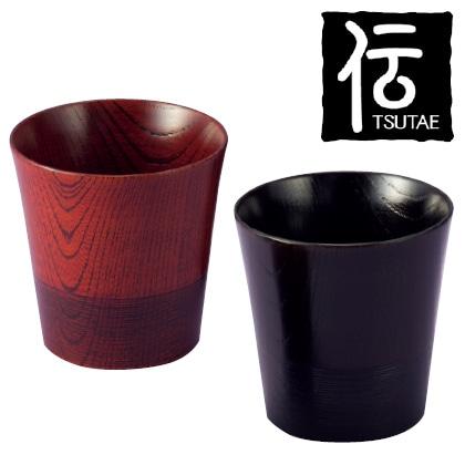 伝 山中塗ロックカップペア