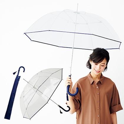 [ホワイトローズ] 縁結手開き長傘 ネイビー