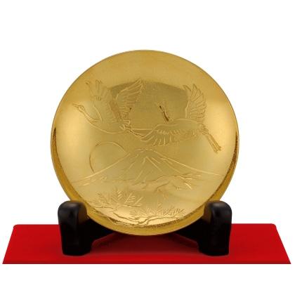 〈光則作〉純金製 招福盃 2.5寸