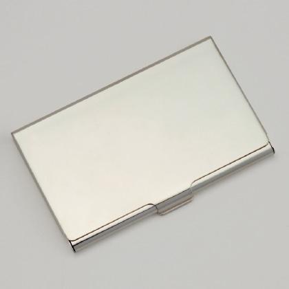 銀製 カードケース(イニシャルなし)
