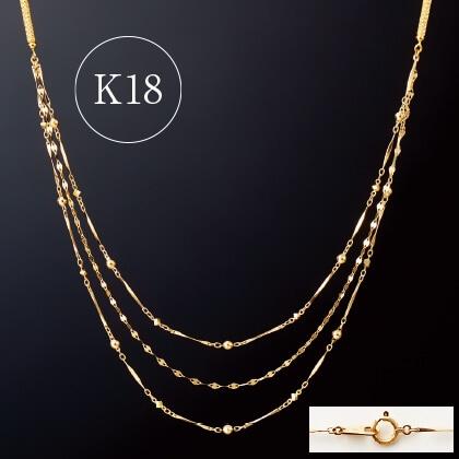 K18 2WAYマグネットロングネックレス