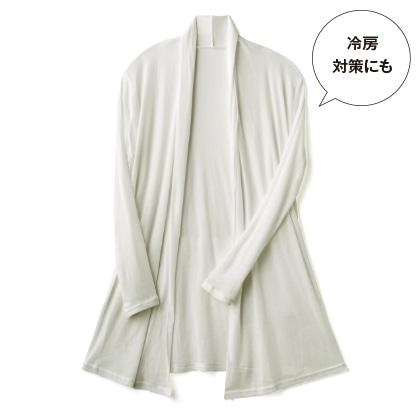 〈天使の綿シフォン(R)〉トッパーカーディガン(ミルク/L)
