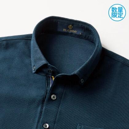 吸汗発散半袖ボタンダウンシャツ(ネイビー/L)