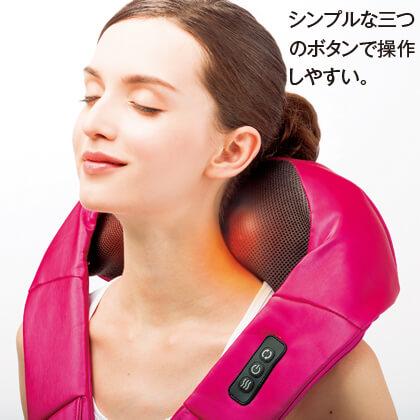 〈ドクターエア〉3Dネックマッサージャー(ピンク)