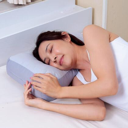 消臭炭わた入り 横向き楽寝枕