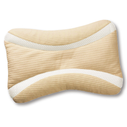 〈necorobi枕〉寝返りフィットタイプ枕(ミディアム/ベージュ)