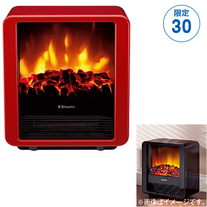 〈ディンプレックス〉電気暖炉(ファンヒーター)  Mini cube(レッド)