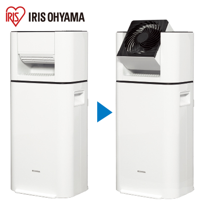 〈アイリスオーヤマ〉サーキュレーター衣類乾燥除湿器