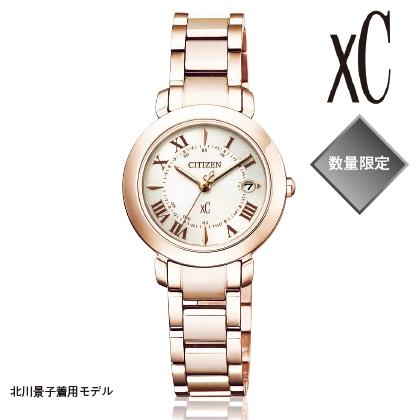 〈シチズン クロスシー〉エコ・ドライブ電波腕時計(ベルト内周15.9cm)