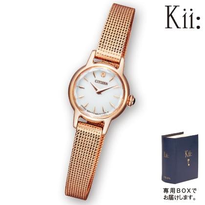 〈シチズン キー〉エコ・ドライブ腕時計(ピンクゴールド色)