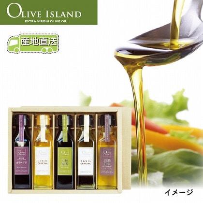 ガーリック・バジル・EXVオリーブオイル・瀬戸内産オリーブ酢5本ギフト