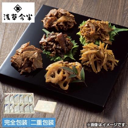 浅草今半 牛肉佃煮詰合せ(木箱入)