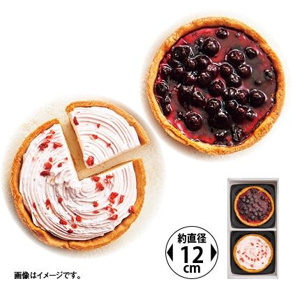 ブルーベリーといちごホイップのチーズケーキ