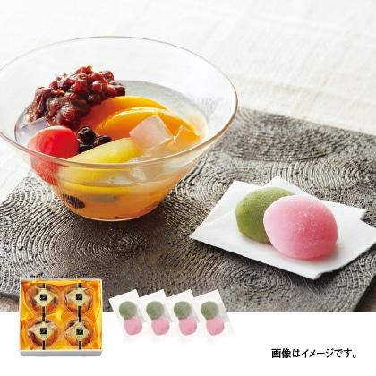 山形の果物たっぷりあんみつ(2色団子入)