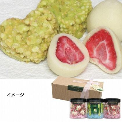 まるごと苺・オリーブハートクランチチョコギフト