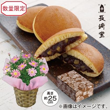 ピンクのマーガレット&長崎堂 栗入りみかさ