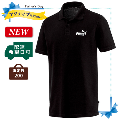 PUMA メンズ ポロシャツ(1)ブラック Lサイズ