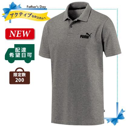 PUMA メンズ ポロシャツ(2)ミディアムグレー Lサイズ