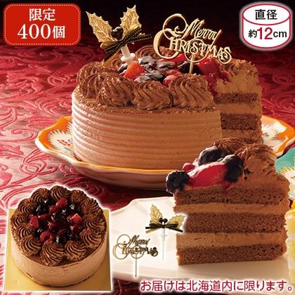 4種のベリーチョコクリームケーキ