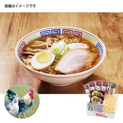 会津地鶏ラーメン 4食具材付