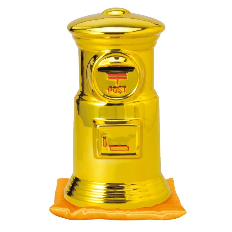 ポスト型貯金箱座布団付き30cm(M金)