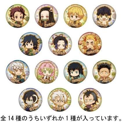 鬼滅の刃 とじコレ Vol.3 クッキー 缶バッジ 1pcs