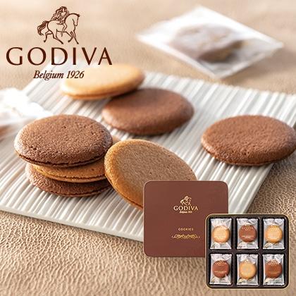 ゴディバ クッキーアソートメント18枚入 写真入りメッセージカード(有料)込【慶事用】