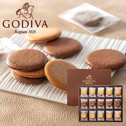 ゴディバ クッキーアソートメント55枚入 写真入りメッセージカード(有料)込【慶事用】