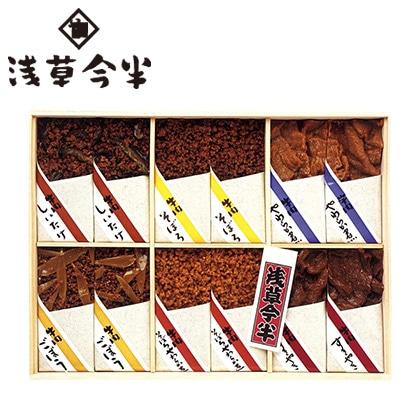 浅草今半 牛肉佃煮6種詰合せ 写真入りメッセージカード(有料)込【慶事用】