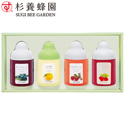 杉養蜂園 果汁蜜詰合せ 写真入りメッセージカード(有料)込【慶事用】