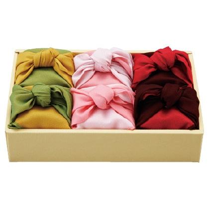 風呂敷包み お米6個詰合せ 写真入りメッセージカード(有料)込【慶事用】