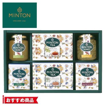 ミントン はちみつ・紅茶詰合せA 写真入りメッセージカード(有料)込【慶事用】