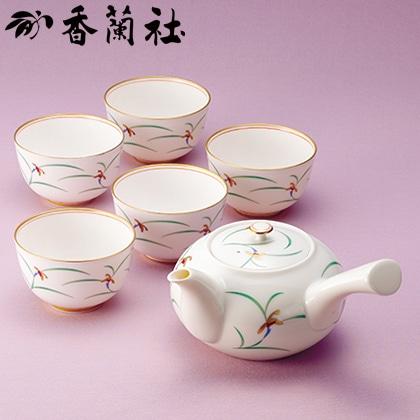 香蘭社 茶器揃【弔事用】
