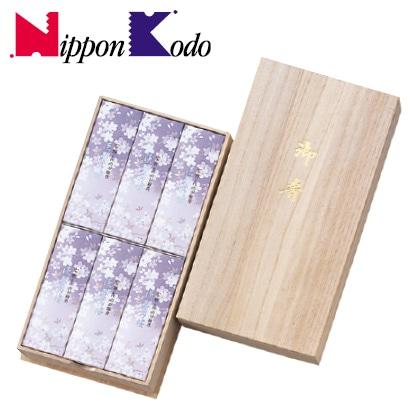 日本香堂 淡墨の桜 桐箱サック6入【弔事用】