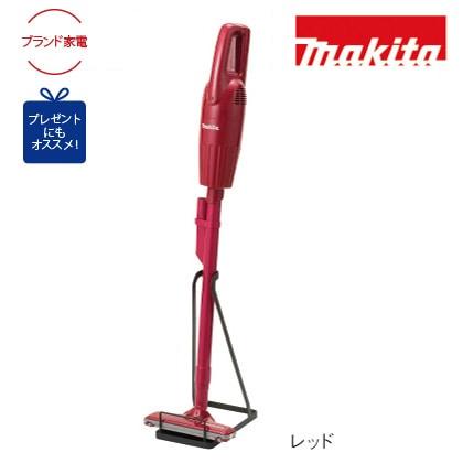 [マキタ]充電式クリーナー+スタンド レッド